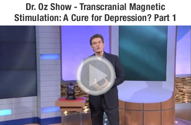 Dr. OZ demonstrating TMS Depression Therapy part 1