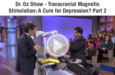 Dr. OZ demonstrating TMS Depression therapy part 2